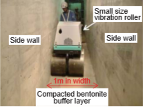 Construction test of compacted bentonite buffer layer in a narrow space